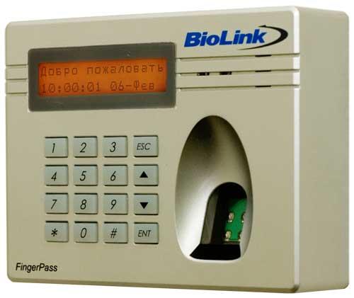 BioLink FingerPass IC паспорт - биометрический терминал контроля и управления доступом