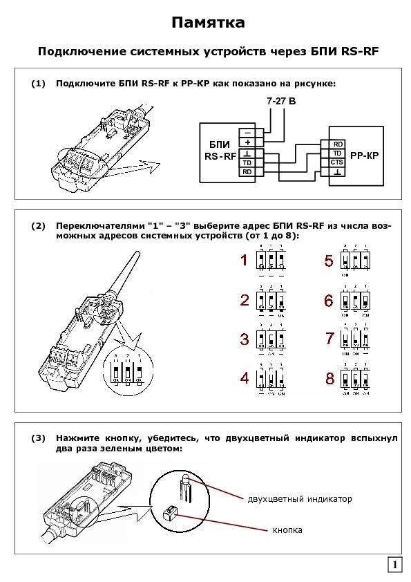 БПИ RS-RF паспорт - блок преобразования интерфейсов