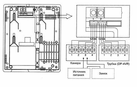 скачать инструкцию подключения/ домофона commax dpv-4pb1