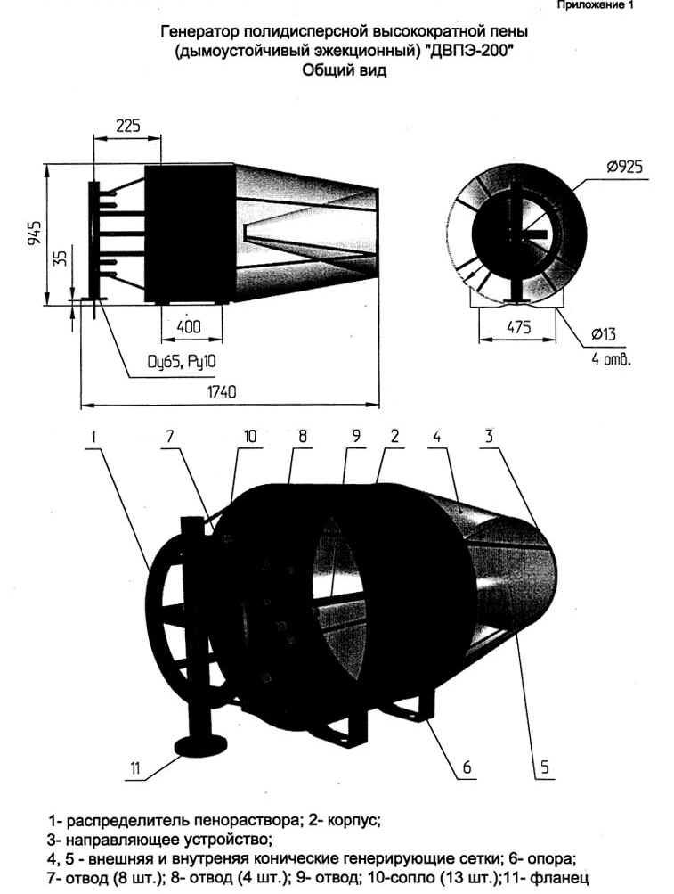 ДВПЭ-200 инструкция - генератор пены полидисперсной высокократной пены