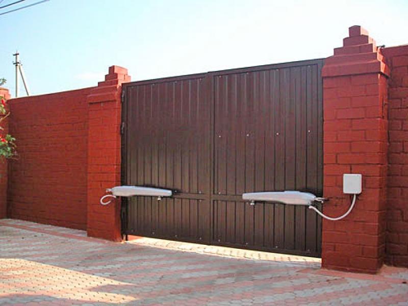 Распашные ворота - инструкция