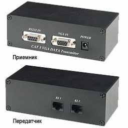 VD01, VD02 инструкция - комплект (приемник+передатчик) передачи VGA и RS-232