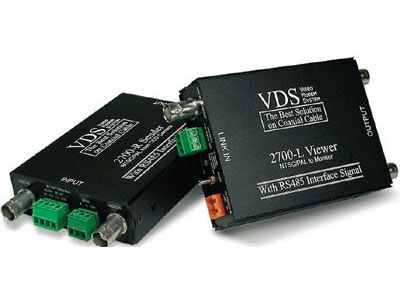 VDS 2700 инструкция - устройство передачи 1-го видео-, 1-го аудиосигнала, сигналов тревоги, управления и электропитания по коаксиальному кабелю
