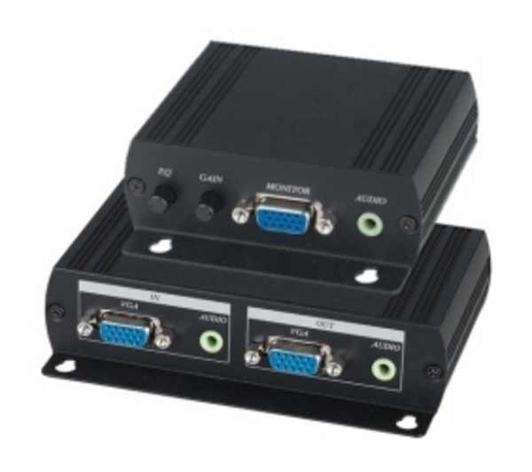 VE02AL инструкция - комплект (передатчик + приемник) для передачи VGA и аудиосигнала